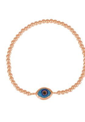 eye bracelet encased rose gold