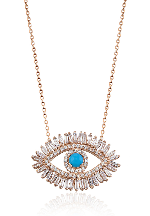 sterling-silver-baguette-stones-arround-with-turquoise-eye-rose-gold-plated-silver-necklace-wholesale-handcrafted-jewelry-1000x1000